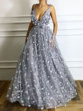 Chic Prom Dresses Straps A line Lace Prom Dress Beautiful Evening Dress JKL979|Annapromdress