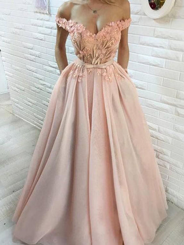 Beautiful Prom Dresses Aline Hand-Made Flower Long Prom Dress Sexy Evening Dress JKL983|Annapromdress