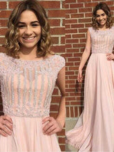 Sparkly Prom Dresses Bateau A line Long Sexy Beautiful Prom Dress JKL993|Annapromdress