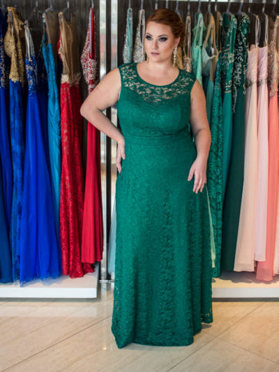 Green plus size prom dresses