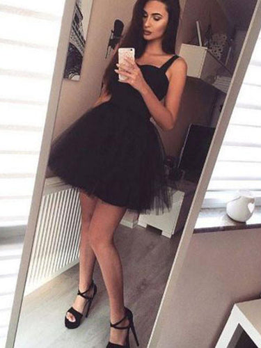 Homecoming Dress A-line Sleeveless Straps Short Prom Dress Party Dress JKS010|Annapromdress