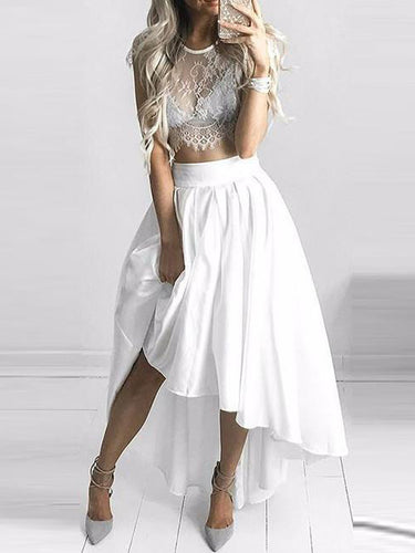 2017 Homecoming Dress Scoop Asymmetrica Short Prom Dress Party Dress JKS011