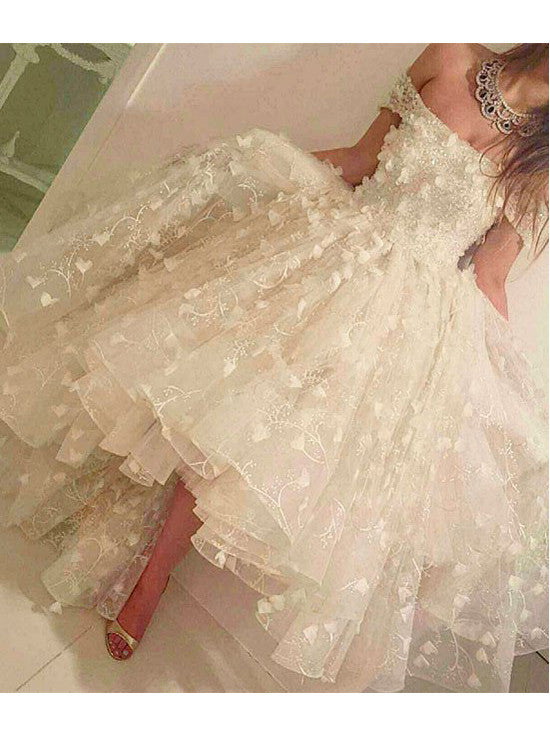 2017 Homecoming Dress Off-the-shoulder Short Sleeve Short Prom Dress Party Dress JKS013