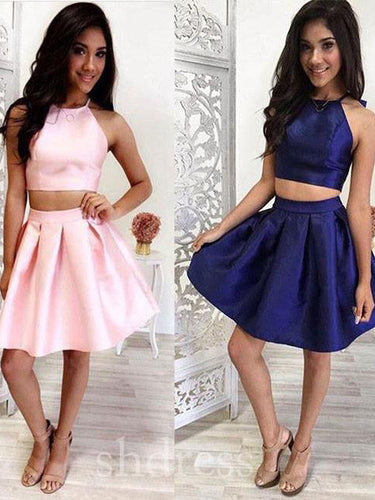 2017 Homecoming Dress Halter Sleeveless Short Prom Dress Party Dress JKS016