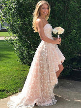 2017 Homecoming Dress Champagne Hand-Made Flower Short Prom Dress Party Dress JKS021