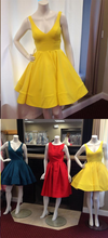 Homecoming Dress V-neck Sleeveless Short Prom Dress Party Dress JKS022|Annapromdress