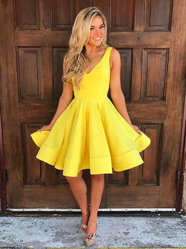 2017 Homecoming Dress V-neck Sleeveless Short Prom Dress Party Dress JKS022