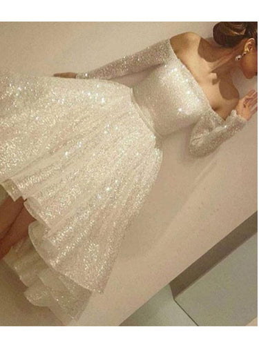 2017 Homecoming Dress Off-the-shoulder Asymmetrical Short Prom Dress Party Dress JKS032