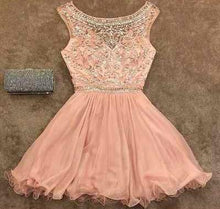 2017 Homecoming Dress Chic Bateau Rhinestone Short Prom Dress Party Dress JKS038
