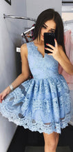 2017 Homecoming Dress Lavender Appliques Tulle Short Prom Dress Party Dress JKS047