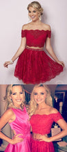 Beautiful Lace Homecoming Dress Two Pieces Short Prom Dress Party Dress JKS066