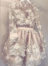Champagne Homecoming Dress Hand-Made Flower Short Prom Dress Party Dress JKS071|Annapromdress