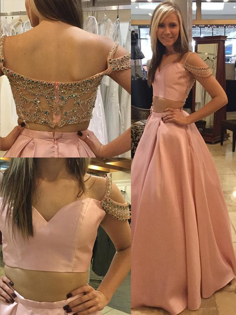 Beautiful Prom Dresses Two Pieces Long Prom Dress/Evening Dress JKS099