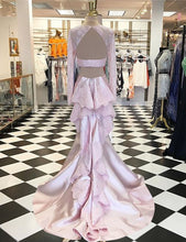 Pink Prom Dresses Satin Trumpet/Mermaid Prom Dress/Evening Dress JKS101
