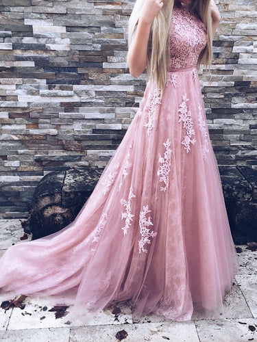 Beautiful Lace Prom Dresses Sweep/Brush Train Prom Dress/Evening Dress JKS103