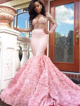 Luxury Prom Dresses Pink Sexy Long Sleeve Prom Dress/Evening Dress JKS105