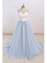 Beautiful Prom Dresses Spaghetti Straps Sweep/Brush Train Appliques Prom Dress/Evening Dress JKS166