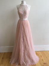 Beautiful Prom Dresses Halter Floor-length Lace Beading Prom Dress/Evening Dress JKS173