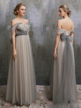 Fairy Prom Dresses A-line Floor-length Bowknot Sexy Prom Dress/Evening Dress JKS181