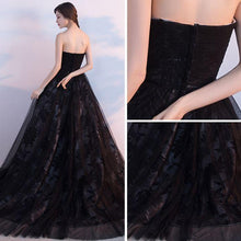 Black Prom Dresses Ball Gown Lace Sweep/Brush Train Chic Prom Dress/Evening Dress JKS182