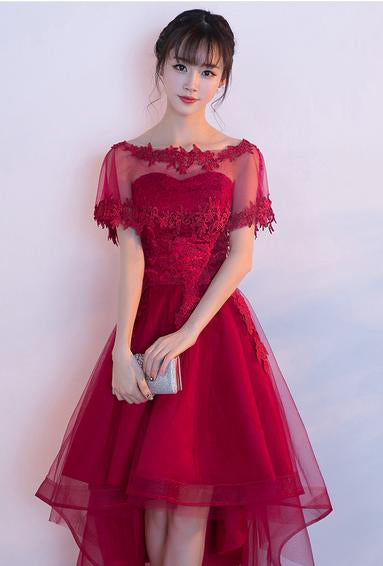 Beautiful Prom Dresses Asymmetrical Sweetheart Lace