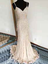 Luxury Prom Dresses Spaghetti Straps Sheath/Column Sexy Prom Dress/Evening Dress JKS226