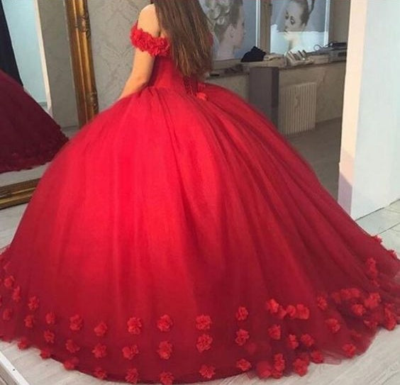 Beautiful Wedding Ball Gowns: Beautiful Wedding Dresses Off-the-shoulder Ball Gown Hand