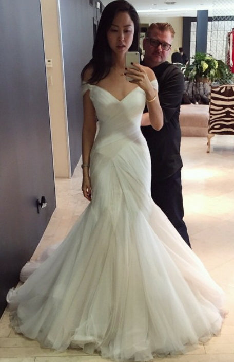 Sexy Wedding Dresses Trumpetmermaid Sweepbrush Train Bridal Gown