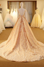 Chic Wedding Dresses Scoop Sweep/Brush Train Sexy Bridal Gown JKS249