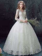 Ball Gown Wedding Dresses V-neck Floor-length Sexy Bridal Gown JKS255