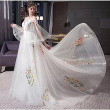 Beautiful Wedding Dresses Spaghetti Straps Sweep/Brush Train Sexy Bridal Gown JKS258