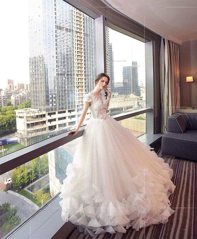Beautiful Wedding Ball Gowns: Beautiful Wedding Dresses Ball Gown Floor-length Lace-up