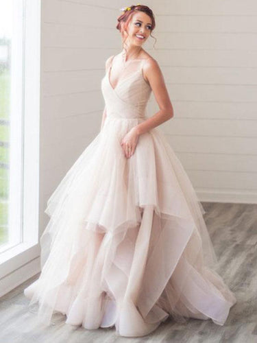 Beautiful Wedding Dresses Spaghetti Straps Short Train Sexy Bridal Gown JKS263