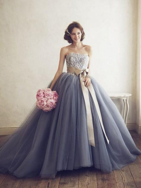 Beautiful Wedding Dresses Ball Gown Lace Sweep Train Lace Up Chic