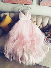 Beautiful Wedding Dresses Beautiful Pink Spaghetti Straps Ruffles Tulle JKW006|Annapromdress