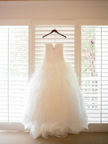 2017 Wedding Dresses Beautiful Sexy White Flouncing Sweetheart Tulle JKW008