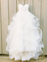 Cheap Wedding Dresses Beautiful Sweetheart Tulle Ivory Bridal Gown JKW044
