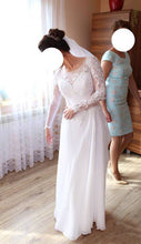 Sexy Slit Wedding Dresses Long Sleeve Sweep/Brush Train Bridal Gown JKW062