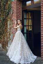Beautiful Wedding Dresses Scoop A-line Sweep/Brush Train Bridal Gown JKW064