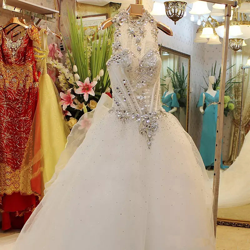 Beautiful Wedding Ball Gowns: Beautiful Wedding Dresses Ball Gown Rhinestone Beading