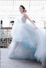 Luxury Wedding Dresses Colorful Ball Gown Appliques Tulle Bridal Gown JKW083