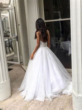 Chic Wedding Dresses Sexy Spaghetti Straps Appliques Tulle Ivory Bridal Gown JKW105