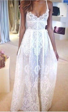 Chic Wedding Dresses A-line Ivory Appliques Sexy Bridal Gown JKW119