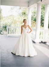 Beach Wedding Dresses Spaghetti Straps Sexy Taffeta Bridal Gown JKW127|Annapromdress