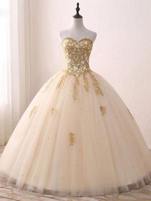 Chic Wedding Dresses Sweetheart Ball Gown Floor-length Long Bridal Gown JKW133