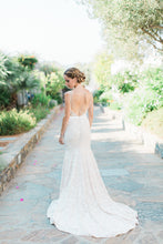 Mermaid Open Back Wedding Dresses Spaghetti Straps Sweep Train Lace Sexy Bridal Gown JKW180|Annapromdress
