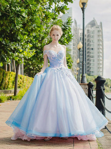 Ball Gown Wedding Dresses Beautiful One Shoulder Lace-up Big Colored Bridal Gown JKW193|Annapromdress
