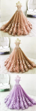 Ball Gown Wedding Dresses Romantic Long Train Luxury Lace Big Bridal Gown JKW205|Annapromdress
