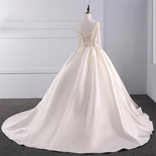 Sparkly Wedding Dresses Sweep Train Beading Sexy Big Ball Gown Bridal Gown JKW221|Annapromdress