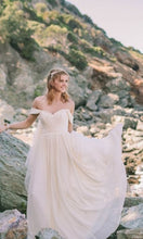 Beach Wedding Dresses Aline Off-the-shoulder Floor-length Lace Simple Bridal Gown JKW300|Annapromdress